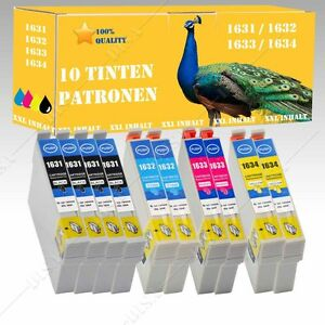10x-non-original-kompatible-Tinte-mit-Chip-fuer-Epson-Workforce-WF-2660-DW-E129