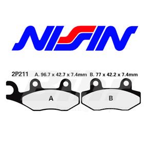 NISSIN-PASTIGLIE-FRENO-ANTERIORE-HONDA-CBR-600-F-1991-1994-2P211GS-BRAKE-PADS