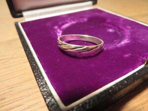 Toller-925-Silber-Ring-Designer-Modern-Unisex-Rillen-Schlicht-Einfach-Super-TOP