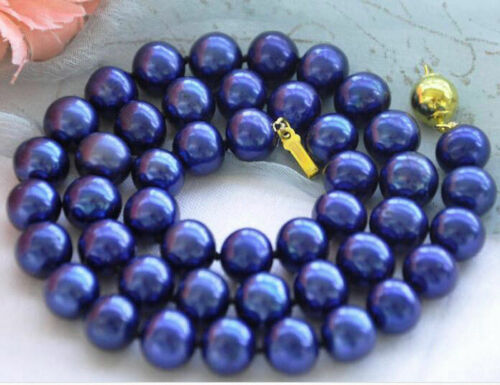 """Long 16/"""" 18/"""" 24/"""" 36/"""" 48/"""" Women/'s 8 mm Akoya Shell Pearl PERLES rondes Collier AAA"""
