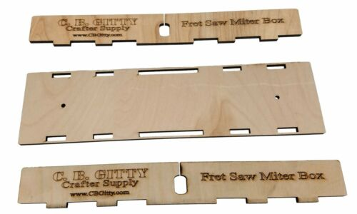 """Laser-cut Fretting Miter Box Kit for guitar necks /& fretboards up to 2.5/"""" wide"""