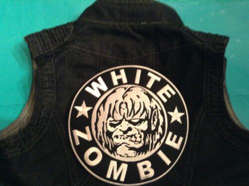 Zombie Denim Vest Waistcoat Gilet Sleeveless Metal Biker Cut White Rob off Girls OIq8xqfwd