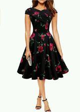 Black Butterfly 'Enya' Vintage Infinity Pin-up Dress, Sz. 18
