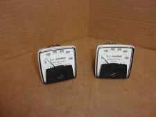 General Electric D C Amperes Meter 50 152121ecsf2 Lot Of 2