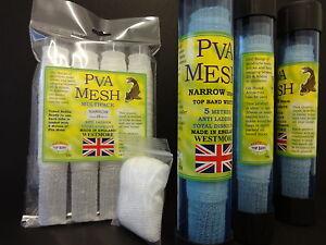 PVA-Mailles-Etroite-Westmore-25mm-recharges-faire-facteur-pellet-Boilie-Appat-mix-sacs