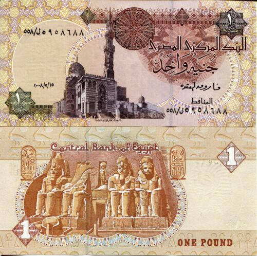Sign 22 Bill EGYPT 1 Pound Banknote World Paper Money UNC Currency Pick p50 m?