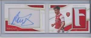 2020 Panini Immaculate Soccer Kieran Tierney AUTO LOGO PATCH BOOKLET 14/65 relic