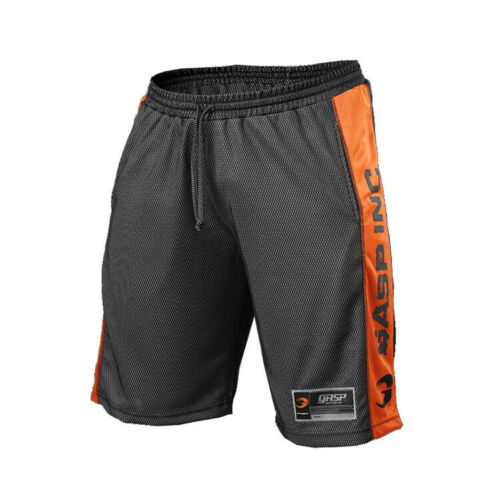 Men Gym Shorts Loose Breathable Quick-drying Mesh Workout Fitness Short Pants