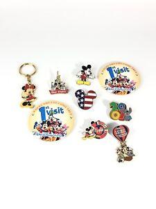 Disney-Walt-Disney-World-Collection-Of-9-Pins-Keychain