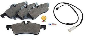Mini-Cooper-R50-R52-R53-Trasero-Pastillas-De-Disco-De-Freno-Y-Alambre-Sensor-Indicador-de-desgaste