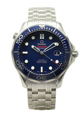 OMEGA SEAMASTER CO-AXIAL 41MM WATCH 212.30.41.20.03.001 BLUE DIAL UNWORN 2017