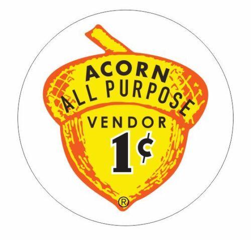 Acorn Autocollant Decal R363 Vending Machine