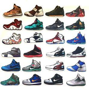 b291f0ba194 Lebron James Air Zoom Cavaliers NBA Sneaker Shoes Skateboard Luggage ...