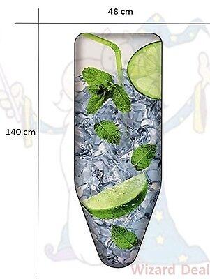 Ironing Board Cover Wpro Titanium Treatment Mojito Decor extra Large 140x48cm