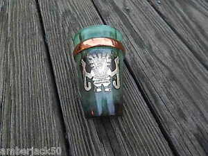 VINTAGE INCA SILVER ON COPPER HALLMARKED GLASS/CUP MADE IN PERU INTNL SALE