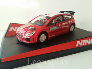 Slot-SCX-Scalextric-Ninco-50494-Citroen-C4-WRC-Swedish-039-07-Loeb