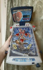 Vintage Marvel Spiderman 2 Table Top Pinball Machine 2004 (Tested) Neat Toy