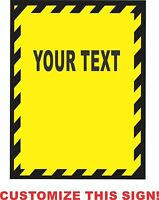 Custom Personalized safety Sign Metal Aluminum Parking Safety Sign
