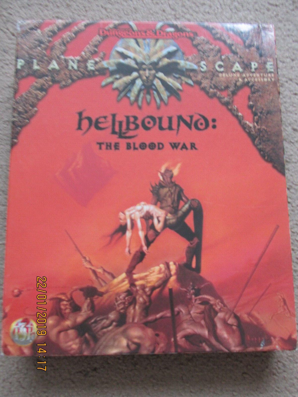 TSR AD&D Planescape Hellbound la guerra en la sangre 2621 completa en caja Dungeon Dragon