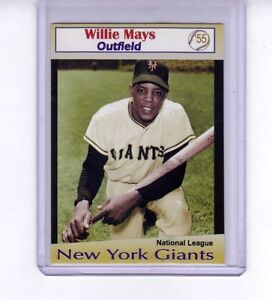 Willie-Mays-039-55-New-York-Giants-rare-Limited-edition-by-Miller-Press