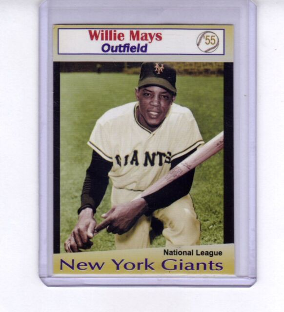 Willie Mays '55 New York Giants rare Limited edition by Miller Press 🔥