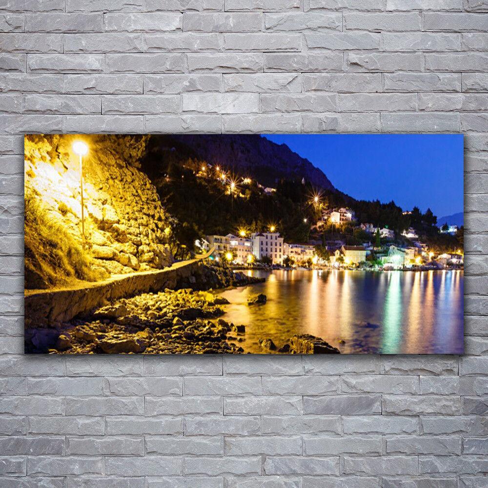 Photo sur toile Tableau Image Impression 120x60 Paysage Montagnes Plage