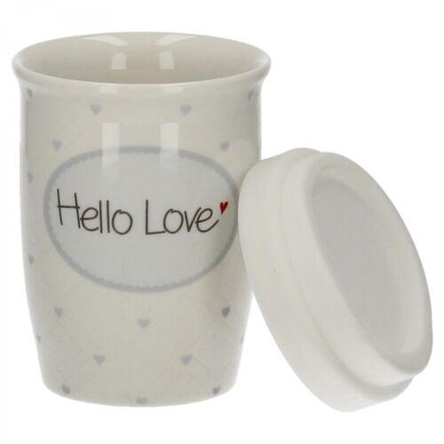 MEA Living Porcelaine Coffee To Go Gobelet Hello Love 250 ml