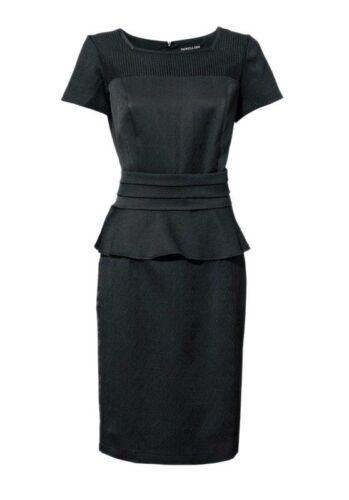 schwarz Patrizia Dini Damen Designer-Schößchenkleid