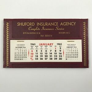 Calendar Same As 2021 Vintage 1965 Insurance Agency Monthly Desk Calendar ~ days will be