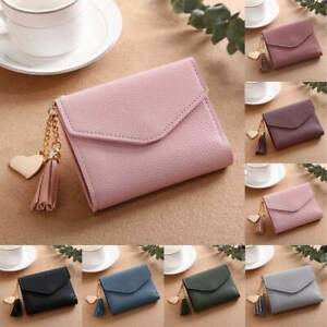 Women-039-s-Short-Small-Wallet-Lady-PU-Leather-Folding-Coin-Photo-Card-Holder-Purse