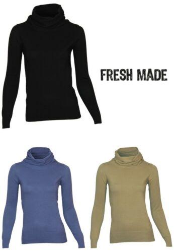 Fresh Made by Sublevel Pullover mit Rollkragen Gr S XL 3 Farben NEU XS L M
