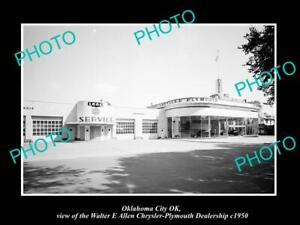 OLD-POSTCARD-SIZE-PHOTO-OKLAHOMA-CITY-OK-USA-CHRYSLER-PLYMOUTH-CAR-DEALER-1950