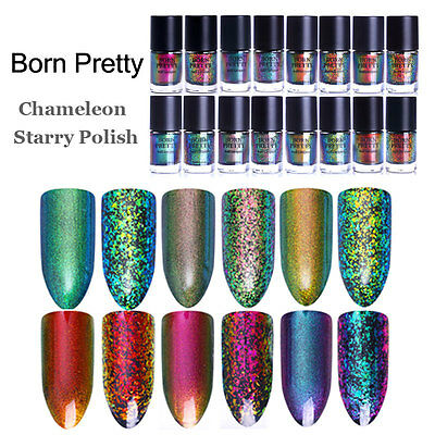 9ml BORN PRETTY Starry Nail Art Chameleon Polish Laser Sequins Polish Varnish