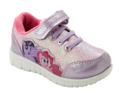 GIRLS OFFICIAL MY LITTLE PONY GLITTER PUMPS TRAINERS SHOES KIDS UK SIZE 6-12