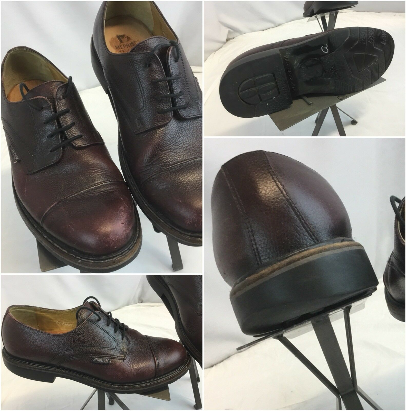 Mephisto Goodyear Welt Oxford shoes Sz 9 Men Brown Made In France YGI H8S-9