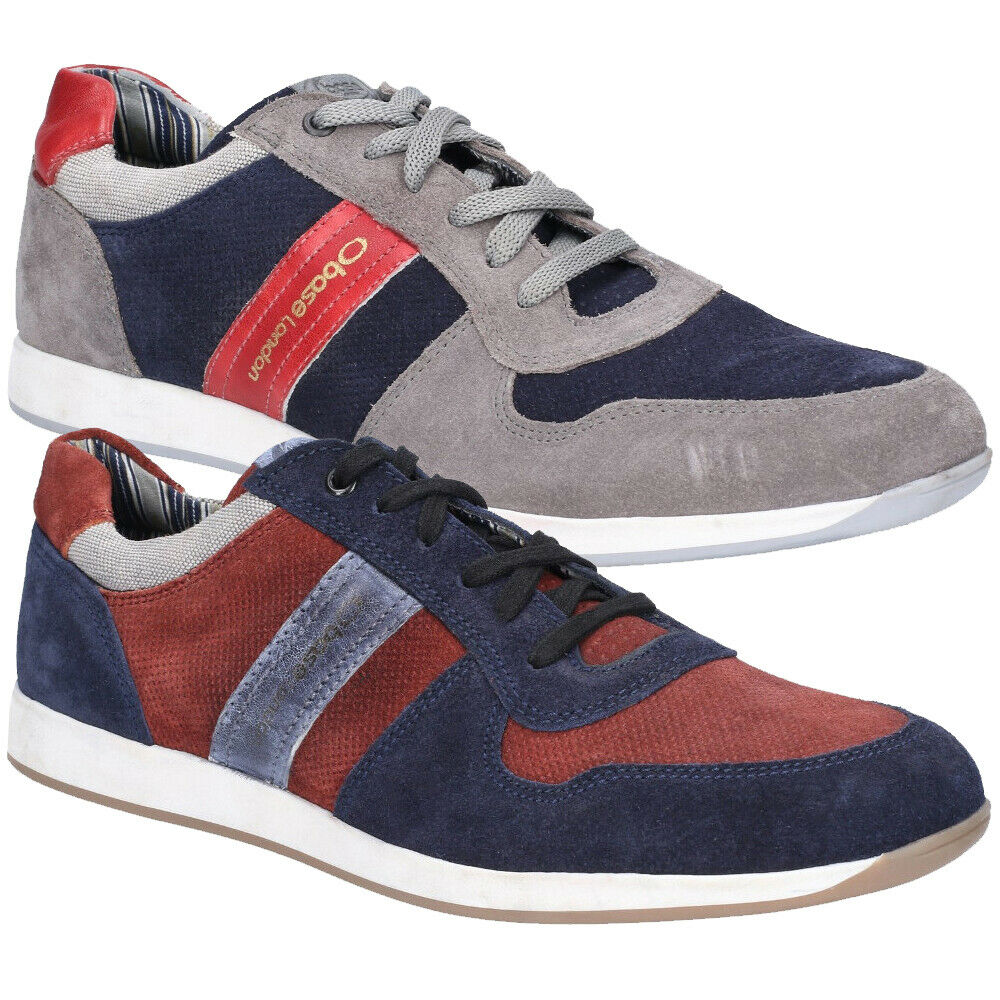 Base London Mens Eclipse Suede Lace Up Casual Trainers