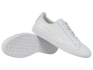 newest 376ae 23dc9 Details about Sneakers Puma Clyde Perforated Trapstar White Shoes Unisex  Leather Trainers