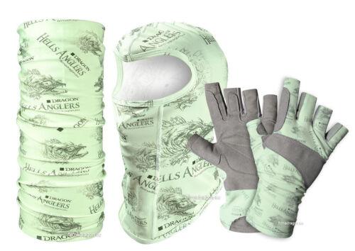 balaclava and gloves Dragon Hells Anglers Summer series buff