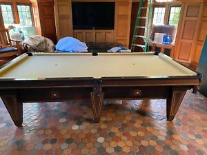 1910-1920 Sloane Pool Table by Brunswick, antique pool table, vintage billiards