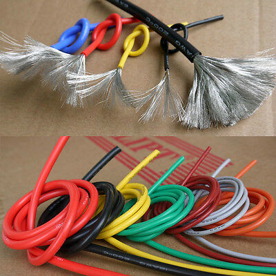22AWG Flexible Silicone Wire Cable ULVW-1 Soft HighTemperature Tinned Copper