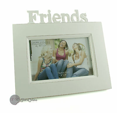 White Vintage Shabby Chic Friends Photo or Picture Frame Gift FW992FR
