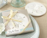 50 Beach Summer Sand Dollar Coaster Bridal Wedding Favors In Gift Box
