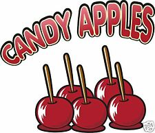 Candy Apples Concession Stand Food Truck Cart Stand Decal Sign Sticker 12