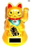 Solar Wink Cat Lucky Cat Cat Wealth Maneki Neko Feng Shui Good Luck Charm