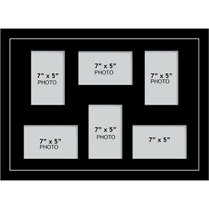 Large Multi Picture Photo Aperture Frame 7 X 5 Inches Size With 6