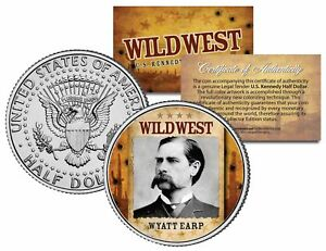 WYATT-EARP-Wild-West-Series-JFK-Kennedy-Half-Dollar-U-S-Coin