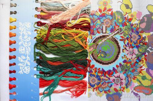 Verano té cruz pinchazo envase basado en punto de cruz set Stick imagen aida bordar 423