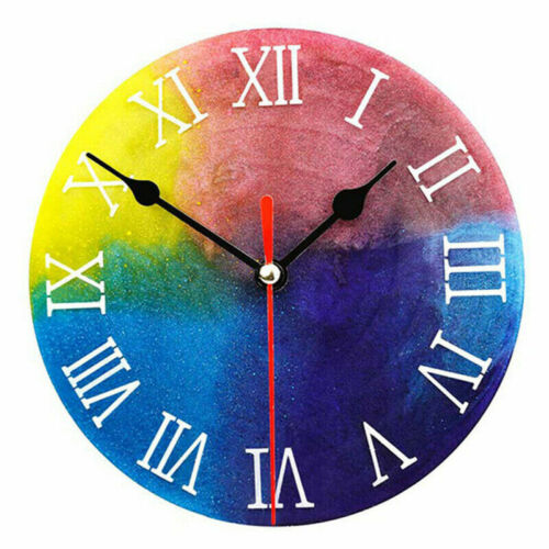 Clock Silicone Expoxy Resin Jewelry Mold Pendant  Making DIY Mould Craft