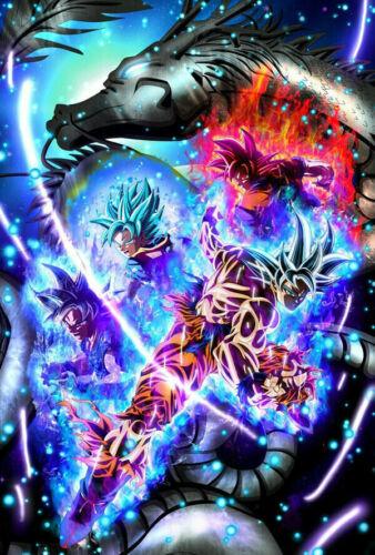 Hot Fabric Poster Dragon Super Ultra Instinct Goku Japan Anime F-416