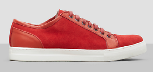 Kenneth Cole Men's On The Double II Suede Sneaker, Red, Size 9 Med, MSRP 150